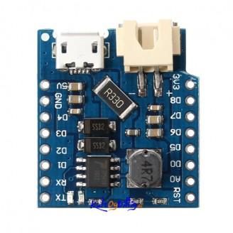 Batteri Shield For WeMos® D1 mini for lading av lithium batteri (3.7V)