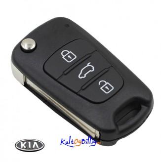 Kia K2 K5 Nøkkelskall m/ uslipt nøkkelblad. Kun skall, ingen elektronikk.