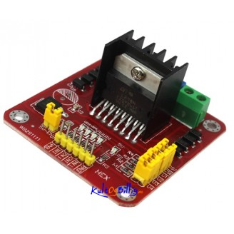 L298 L298N Dual Bridge DC Stepper Motor Driver Shield Modul Kontroller Kort for arduino
