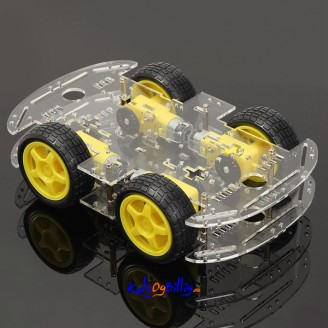 "4WD ""Smart Robot-Car"" Chassis Kit med motorer og hjul For Arduino"
