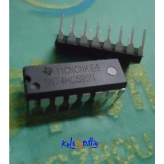 5 x M74HC595B1R 74HC595 8 Bit Shift Register 74HC595N DIP 16