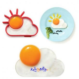 Speilegg-form Sol og Sky