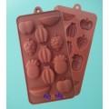 Silikon-form til sjokolade, vingummi, m.m.. Motiv av frukter
