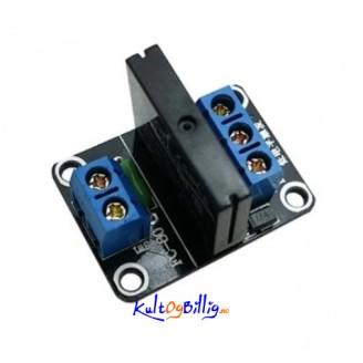 1-Kanals Halv-leder Relé - OMRON SSR G3MB-202P 5V med Resistiv Sikring for Arduino - 240V 2A Output - Solid State Relay