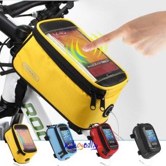 Praktisk Sykkelveske med plass til mobilen. Leveres i forskjellige størelser/ farger