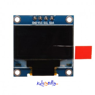 0.96 Inch I2C IIC Serial 128 x 64 OLED LCD LED Skjerm Modul For Arduino