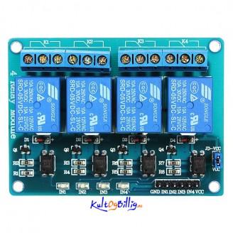 4-Kanals 5V Rele Modul For Arduino PIC ARM DSP AVR MSP430