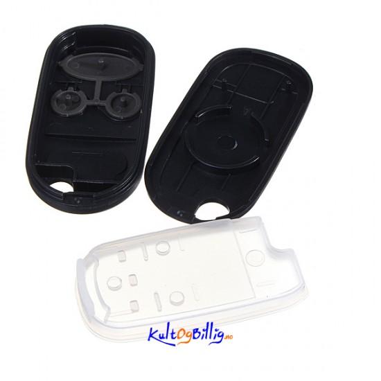 Honda 3 Knappers N 248 Kkel Skall Fob Ingen Elektronikk