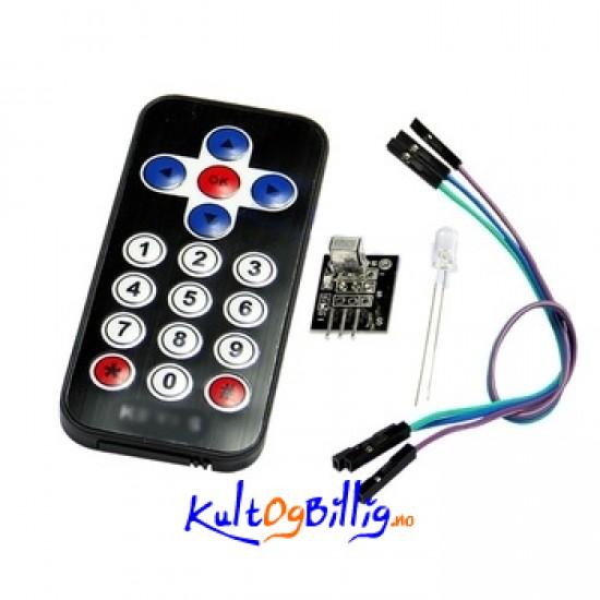 Infrarød ir trådløs fjernkontroll modul kit for arduino