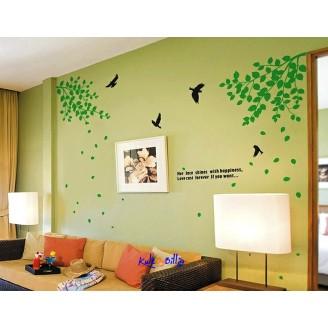 """""""Grønne blader"""" - veggdekal"""