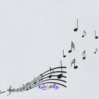 Music Note Pattern Graffiti Removable Wallpaper