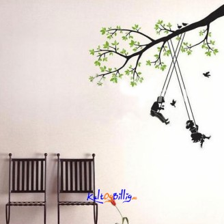 Swing Pattern Graffiti Removable Wallpaper