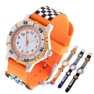 3D Racing Design Quartz armbåndsur med gummi-rem (Velg farge)
