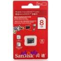 SanDisk microSDHC Minnekort 8GB / Class 4