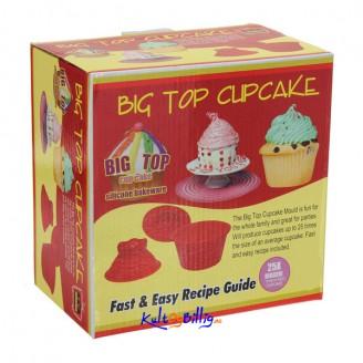 3-dels Sett med store Muffins Cupcake Silikon Former