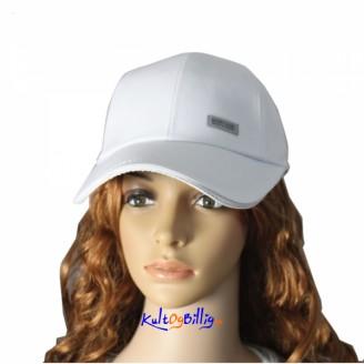 Bomull Baseball Cap - Hvit