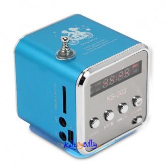 Oppladbar Mini Lyd Boks USB - TF kort MP3 med FM Radio