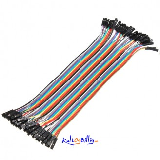 40 stk. 20cm Hun til Hun Jumper kabel (for bl.a. Arduino)