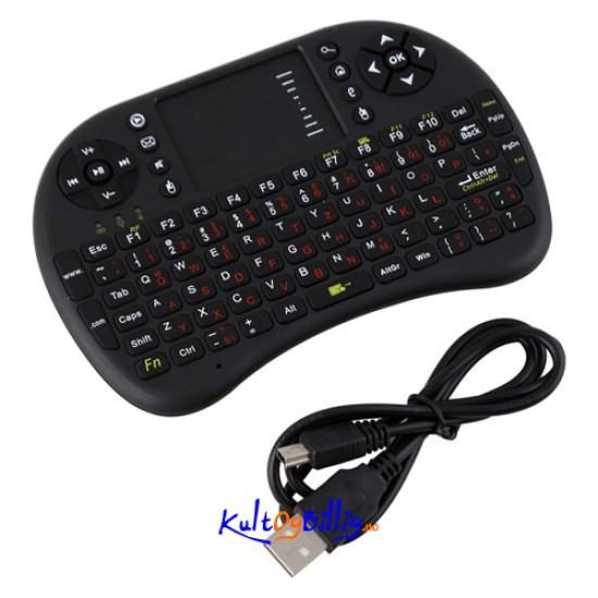 2.4GHz wifi Trådløst Mini tastatur med Touchpad for Android