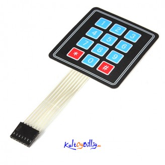 "12 Tasters ""Membrane Switch"" keypad For Arduino"