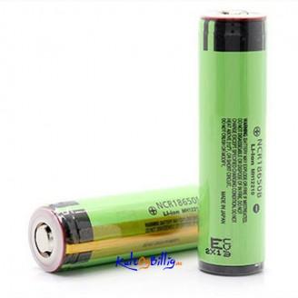 2 stk Panasonic NCR 18650B 3.7V 3400mAh Beskyttet Oppladbart Li-Ion Lithium Batteri