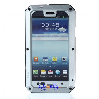 Støt- og vannbeskyttende alu-deksel med Gorilla Glass for Samsung i9300 SIII