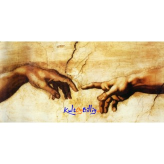 "Lerrets-trykk Michelangelo - ""Creation of Adam"""