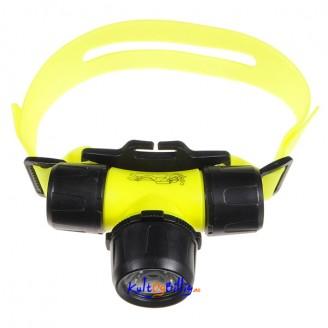 Hodelykt for Dykking. Vanntett til 30m. CREE Q5 LED 300 Lumens