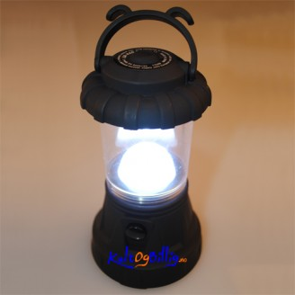 11 LED camping-lykt. Justér-bar lysstyrke