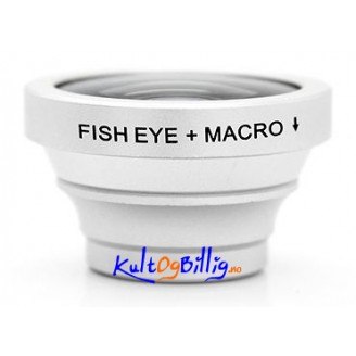 Fish Eye + Macro Linse for iPhone / iPad