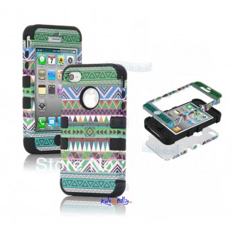 "iPhone 5 3-dels ""Hybrid High Impact"" Deksel Aztec Tribal III"