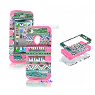 "iPhone 5 3-dels ""Hybrid High Impact"" Deksel Aztec Tribal IV"