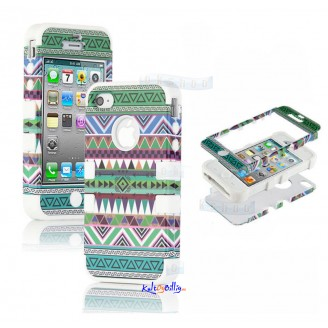 "iPhone 5 3-dels ""Hybrid High Impact"" Deksel Aztec Tribal II"
