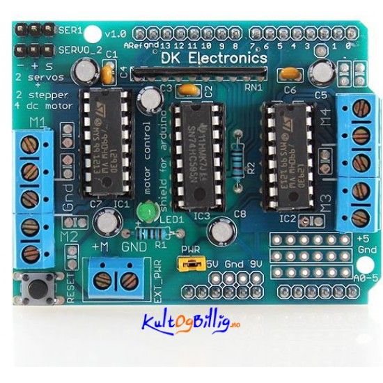 Adafruit compatible motor control shield for arduino for Adafruit motor shield arduino