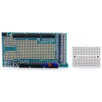 Arduino Mega Prototype Proto Shield V3 Expansion Board m/ breadboard